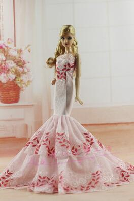 The new case for Barbie doll wedding dress Toy Set Set Clothes Set Fashion Dolls Barbie Princess Clothes Girl Toys