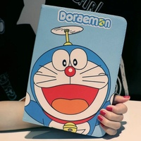 Tablet Case For Apple Ipad 4 3 2 Doraemon Cartoon Style PU Leather Protective Cover Stand
