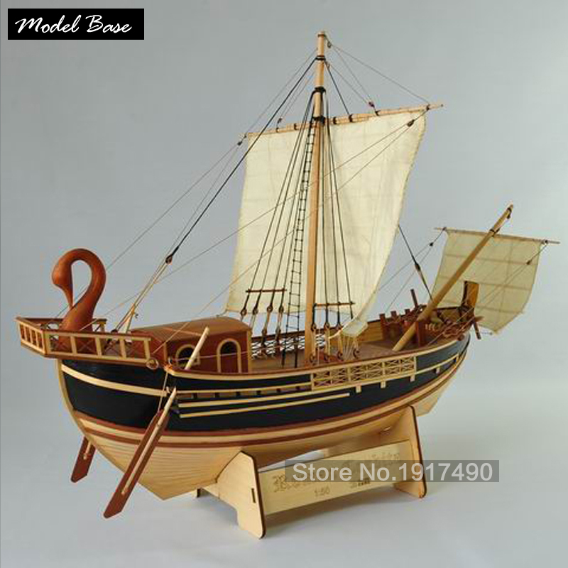 Roman Corbita Roman merchant ship test beta, wooden sailboat models set of materials