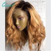 Боковая часть платиновый блондин полный кружева парики человеческих волос бразильские Волосы remy Ombre Цвет короткие волны Cut полный шнурок па