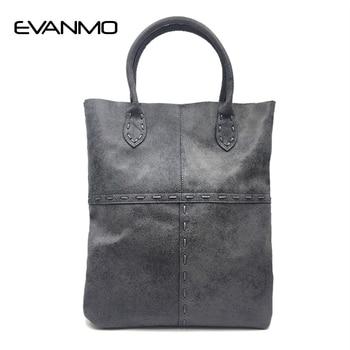 New Luxury Designer High Quality Genuine Leather Women Bag Handbags Large Capacity Tote Bag Black Big Solid Women Shoulder Bags