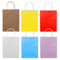 TAOS 18PCS Solid Color Shopping Kraft Paper Bags With Handle For Party Wedding Birthday Christmas Halloween