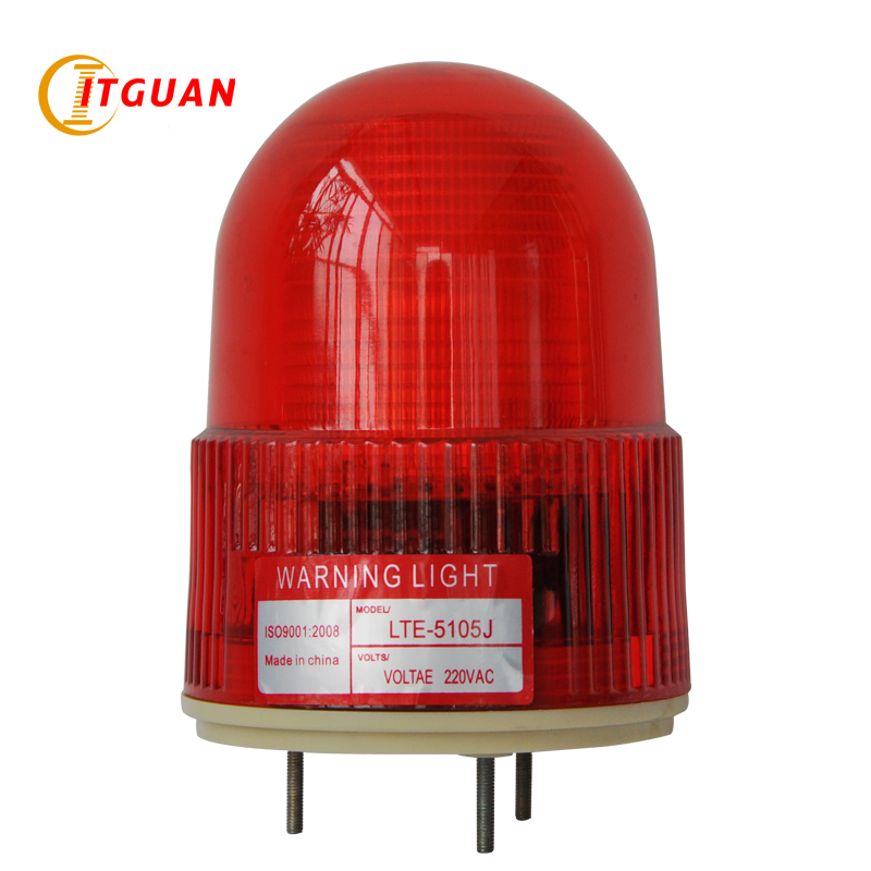 LTE-5105J AC110V Sound Alarm 3w Strobe Blue/Red LED Signal Warning Light Sentry box Warning Lamp With Sound 90dB Emergency Lamp 10pcs x red blue zone forklift danger zone warning light 10 80v 18w red safety zone warning led work lamp