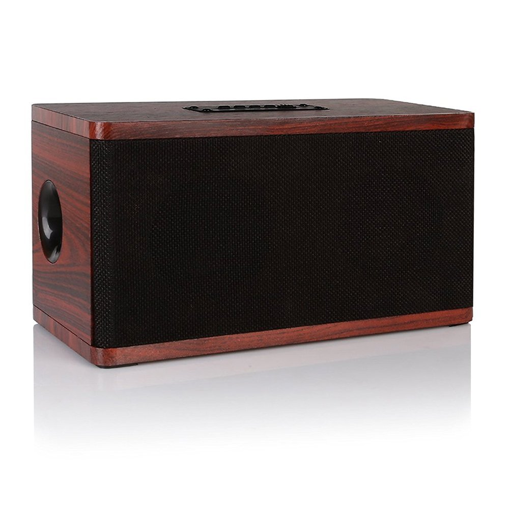 Wooden Bluetooth Speaker,Retro Wireless Portable Stereo Sound System Super Bass HD Audio MP3 Player 3.5mm Aux,USB TF SD Card tronsmart element t6 mini bluetooth speaker portable wireless speaker with 360 degree stereo sound for ios android xiaomi player