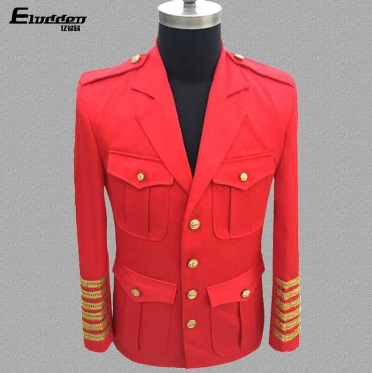 012a7f864c Court uniform clothes men suits designs masculino homme terno stage singers  jacket men blazer dance star style dress black red