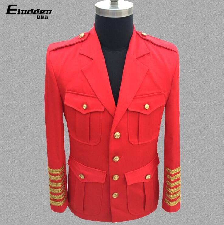 Court uniform clothes men suits designs masculino homme terno stage singers jacket men blazer dance star style dress black red