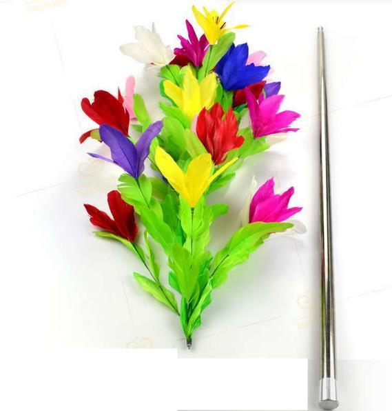 Envío gratis profesional de fuga de caña a flores trucos de magia para magos Props magia de la etapa, diversión, truco, alta calidad