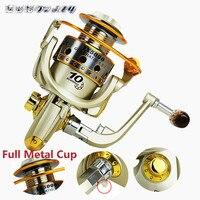 Spinning Fishing Reel Metal Coil 12 Ball Bearing 1000 7000 Series Spinning Reel Boat Rock Fishing