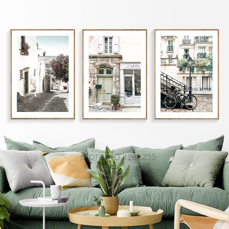 British Architecture Nordic Poster Road Cuadros Decoracion River Wall Pictures For Living Room Wall Art Canvas Painting Unframed