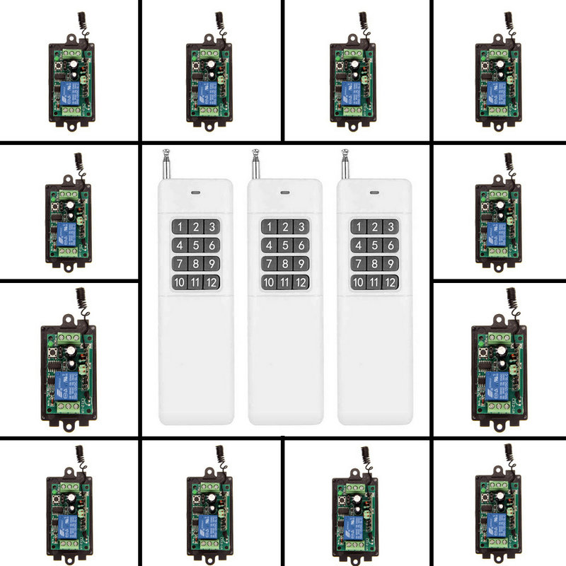 12CH 3000m Long Distance High Power DC 9V 12V 24V 1 CH 1CH RF Wireless Remote Control Switch System,Transmitter + Receiver 12ch 3000m long distance high power dc 9v 12v 24v 1 ch 1ch rf wireless remote control switch system transmitter receiver