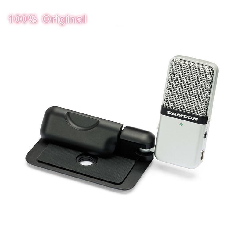 100% Original SAMSON ir Mic Clip micrófono ordenador portátil USB condensador video Wav micrófono para portátil Ipad Juitar