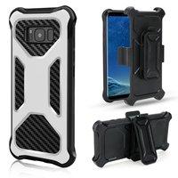 שנאי היברידי Kickstand מקרה עבור IPhone X 8 7 6 6 S בתוספת S8 בתוספת הערה Samsung Galaxy 8 Heavy Duty כיסוי מקרה עם קליפ Stand
