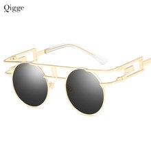 Qigge Steam Sunglasses Women Brand Designer Sun glasses Retr