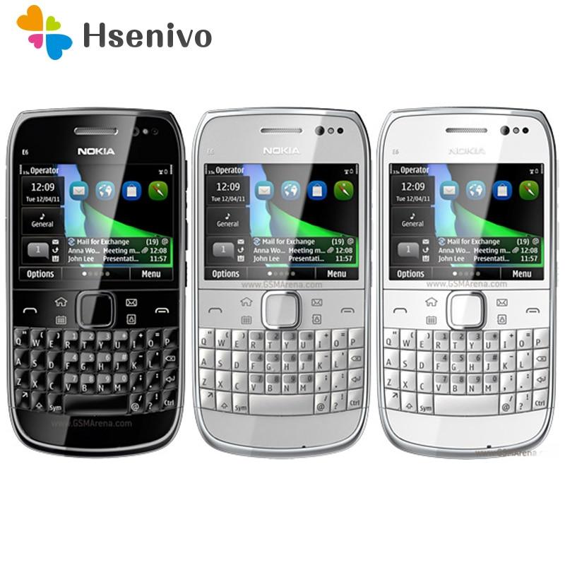 E6 reconditionné Original débloqué Nokia E6 E6-00 2.4 pouces 8MP caméra 3G WIFI Bluetooth FM Symbian OS téléphone Mobile livraison gratuite