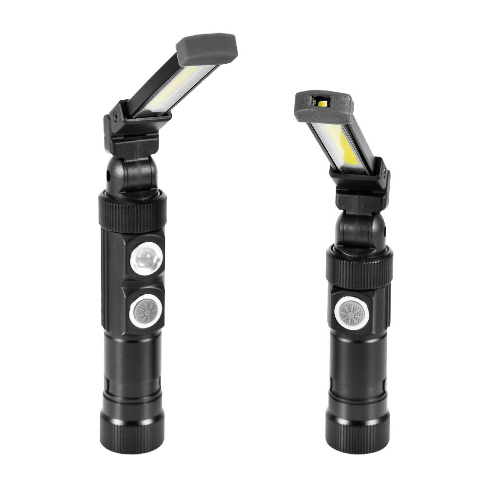 USB Rechargeable COB Flashlight Torch Portable 5-Mode Work Light Magnetic LED Lanterna Outdoor Camping Hanging Hook Lamp portable 5 mode cob flashlight torch usb rechargeable led work light magnetic cob lanterna hanging tent lamp built in battery