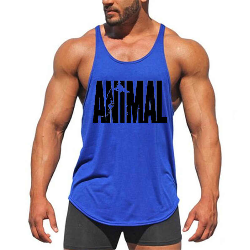 528671ea ... Brand Fitness Animal Gyms Tank Top Men Clothing Bodybuilding Stringer  Men Sportwear Shirt Muscle Vests Cotton ...