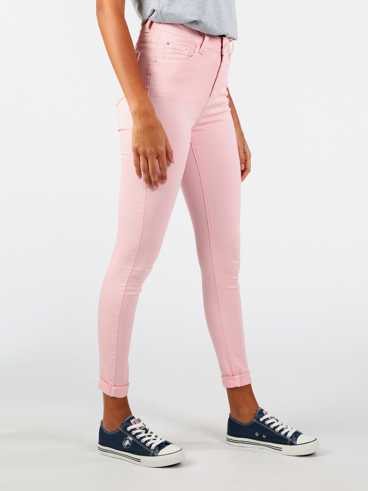 Cotton Pink High-waist