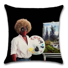 Deadpool Movies comic printed Cushion Cover Party Decoration for Home house sofa chair seat pillow case kids gift friend present deadpool movies comic printed cushion cover party decoration for home house sofa chair seat pillow case kids gift friend present