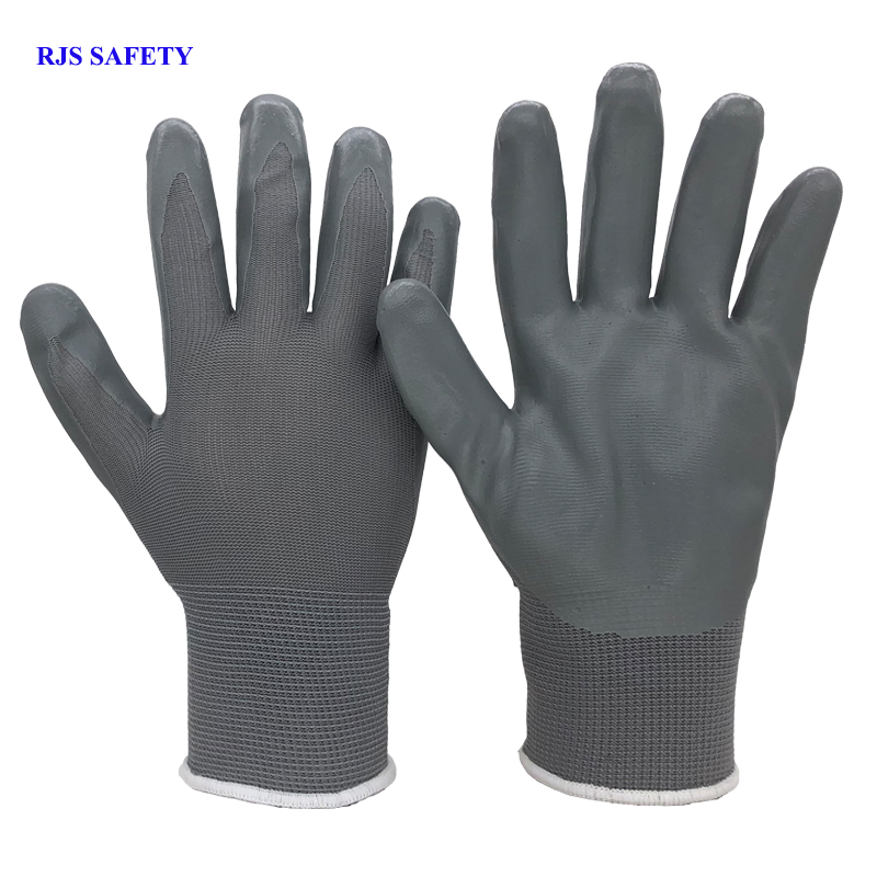 RJS SAFETY Working Gloves Latex Anti-Cutting Nitril Security Protection Wear Safety Workers Moto Garden Gloves Drive Gloves 2001 50pcs disposable safety protective latex for home cleaning industria rubber long female kitchen wash dishes garden work gloves a
