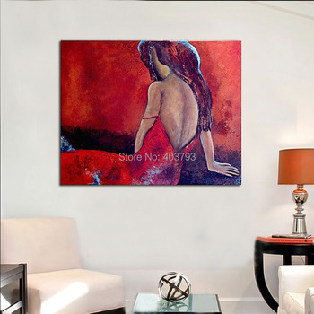 Hand Painted Oil Painting On Canvas People Nude With Unframed Modern Abstract Decorative Makeup Forever Pictures Painting