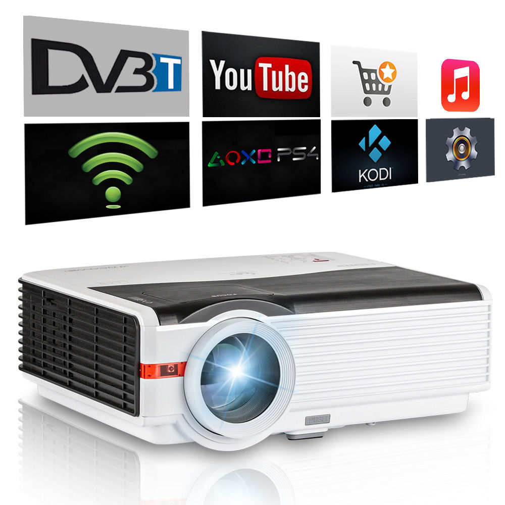 Caiwei Home Use Dvb T2 Projector Led Lcd Digital Tv