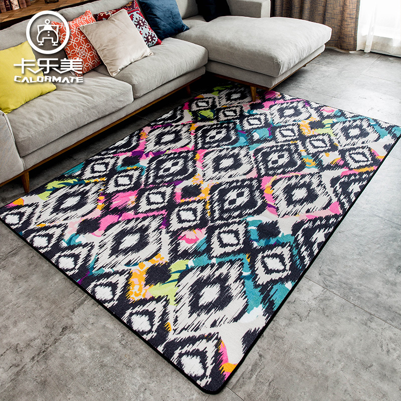 1.6m*2.3m geometric pattern simple section rug living room large carpet coffee table alfombra bedroom bed Mats entrance esteras
