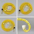 Золотой 8 ядро 2 5 4 4 сбалансированный чистый с серебряным покрытием наушники с медным покрытием кабель для Sennheiser IE8 IE8i IE80 IE80 LN006101