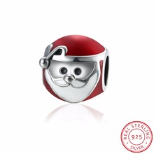 Genuine New 100% 925 Sterling Silver Christmas Man Charm Fit Original Bracelet Pendants Authentic DIY Jewelry Women Gift P119
