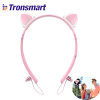 Original Tronsmart Bunny Ears Bluetooth 4 2 Headphones With LED Light Music Cute Wireless Multifunctional Earphone