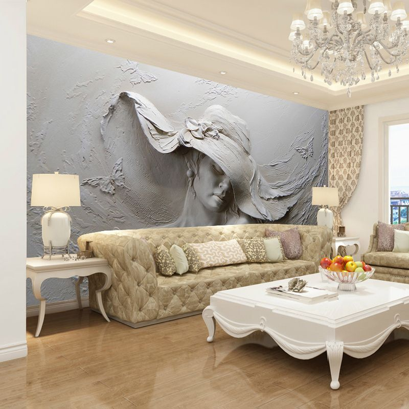 <font><b>3d</b></font> papel de parede Ciment <font><b>Sexy</b></font> Lady Butterfly <font><b>3d</b></font> wall murals wallpaper for Living room TV background <font><b>3d</b></font> poto mural <font><b>Figure</b></font> Murals image