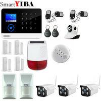 SmartYIBA WIFI 3G WCDMA/CDMA Alarm System Video IP Camera Wireless Smoke Fire Detector For Home Burglar Alarm System Spain