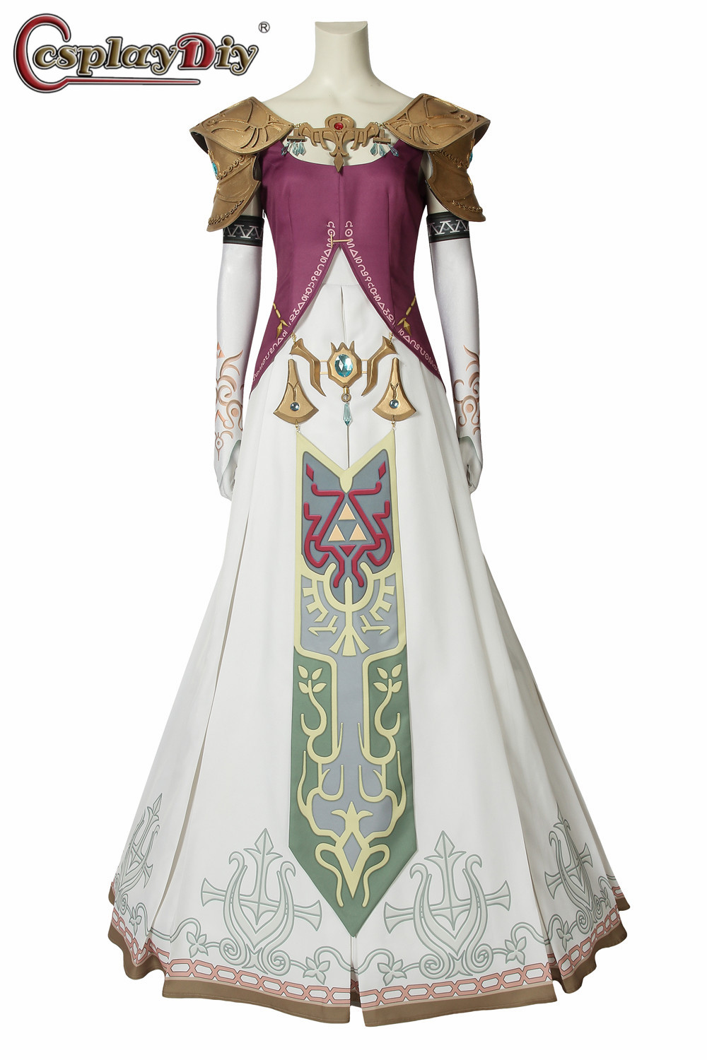 Cosplaydiy The Legend of Zelda Twilight Princess Robe Robes Cosplay Costume Halloween Ensemble Complet Tenues Custom Made