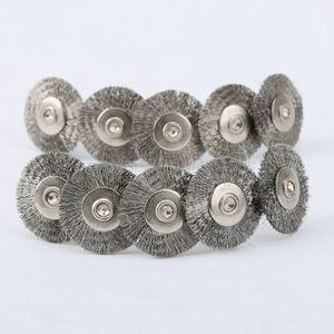 Image 5 - Accessoires Dremel, brosse rotative en acier, brosses à fil dremel pour meuleuse, 22mm, 10 pièces