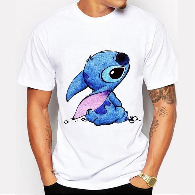 Neue 2017 Nette Kawaii T Shirt Sommer Stil Lilo Stitch Print