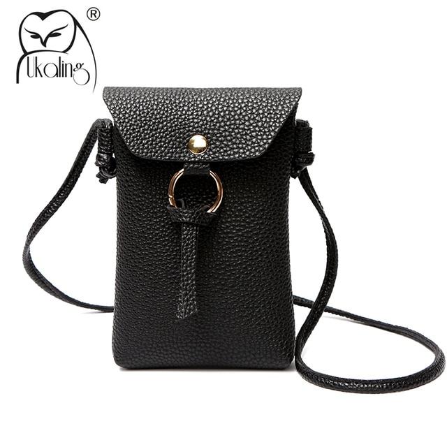 616c984d643d UKQLING Mini Phone Bag for Girls Purse Clutch PU Leather Women Messenger  Bags Sling Clutch Change