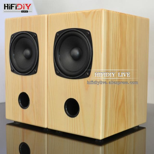 HIFIDIY LIVE 3 inch wood 15W*2 Passive 2.0 speakers HIFI Home/OFFICE desktop stereo audio Computer notebook speaker sound box A3