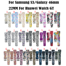 Colorful Silicone Strap For Samsung Gear S3 Band Frontier Classic Strap For Galaxy 46mm Watchband 22mm Smart Watch Bracelet silicone sport watchband for gear s3 classic frontier 22mm strap for samsung galaxy watch 46mm band replacement strap bracelet