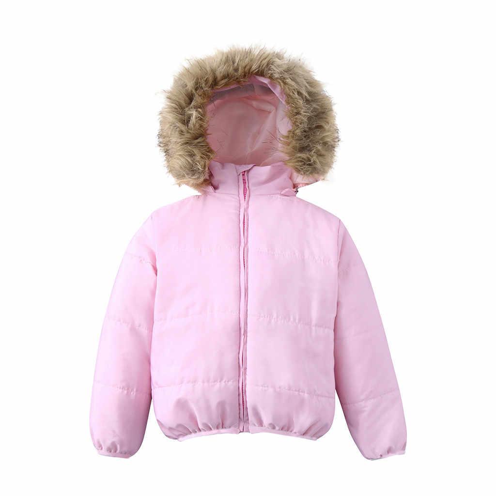 2018 зимний детский зимний комбинезон, зимнее пальто для маленьких девочек, одежда для маленьких детей, Толстая куртка с меховым воротником и капюшоном, одежда для маленьких мальчиков и девочек