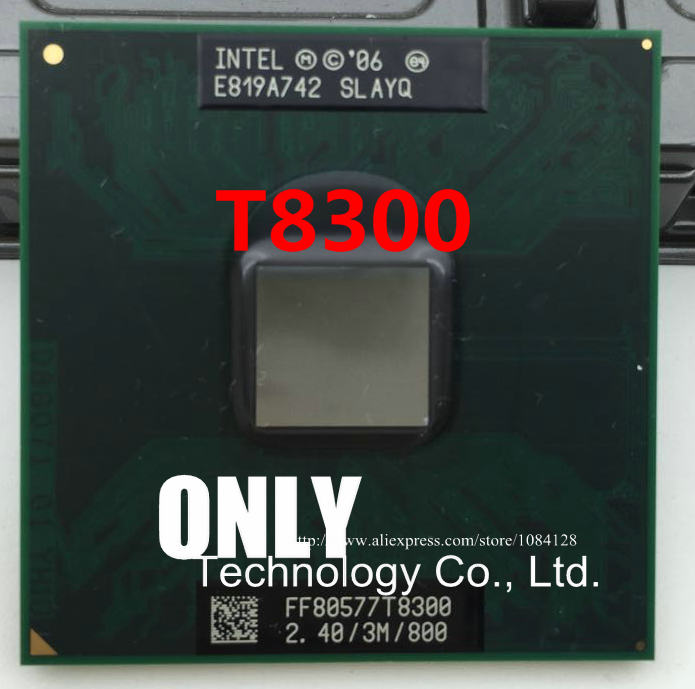 Free Shipping T8300 2.4G  3M  800 SLAYQ original pin PGA official version of the notebook CPU supports 965