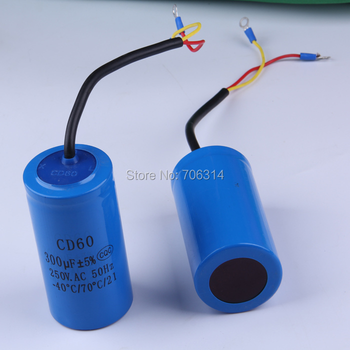 Staring capacitor cd60 300uf heavy duty electric motor for Electric motor starting capacitor