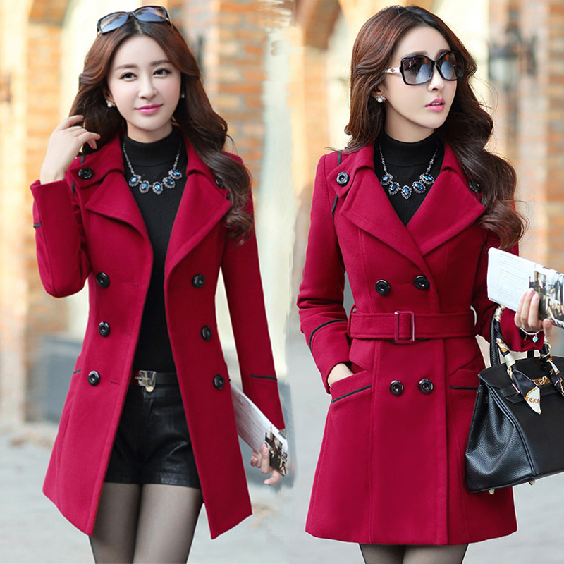 2018 Special Offer Direct Selling Winter Women Wool   Trench   Double Breasted Long Overcoat Solid Slim Elegant Outwear Female Coat