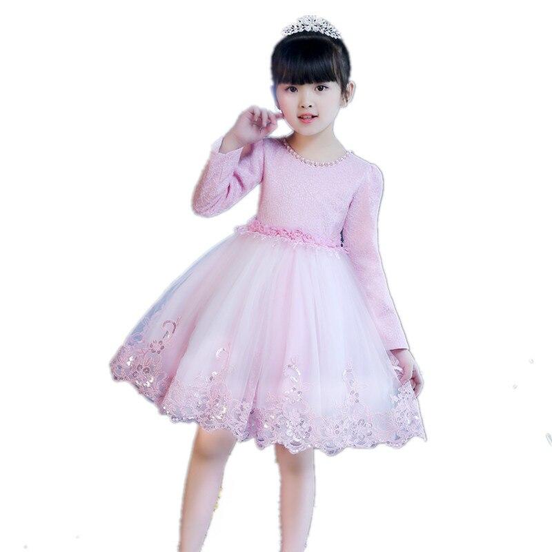 Girls Dresses Spring dresses High quality dresses New show host Costumes Childrens Day Wedding princess dress A86