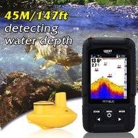 Lucky Водонепроницаемый Рыболокаторы монитор с ЖК-дисплей Цветной Дисплей Беспроводной Smart Sonar Сенсор глубины рыб сигнализации Прямая достав...