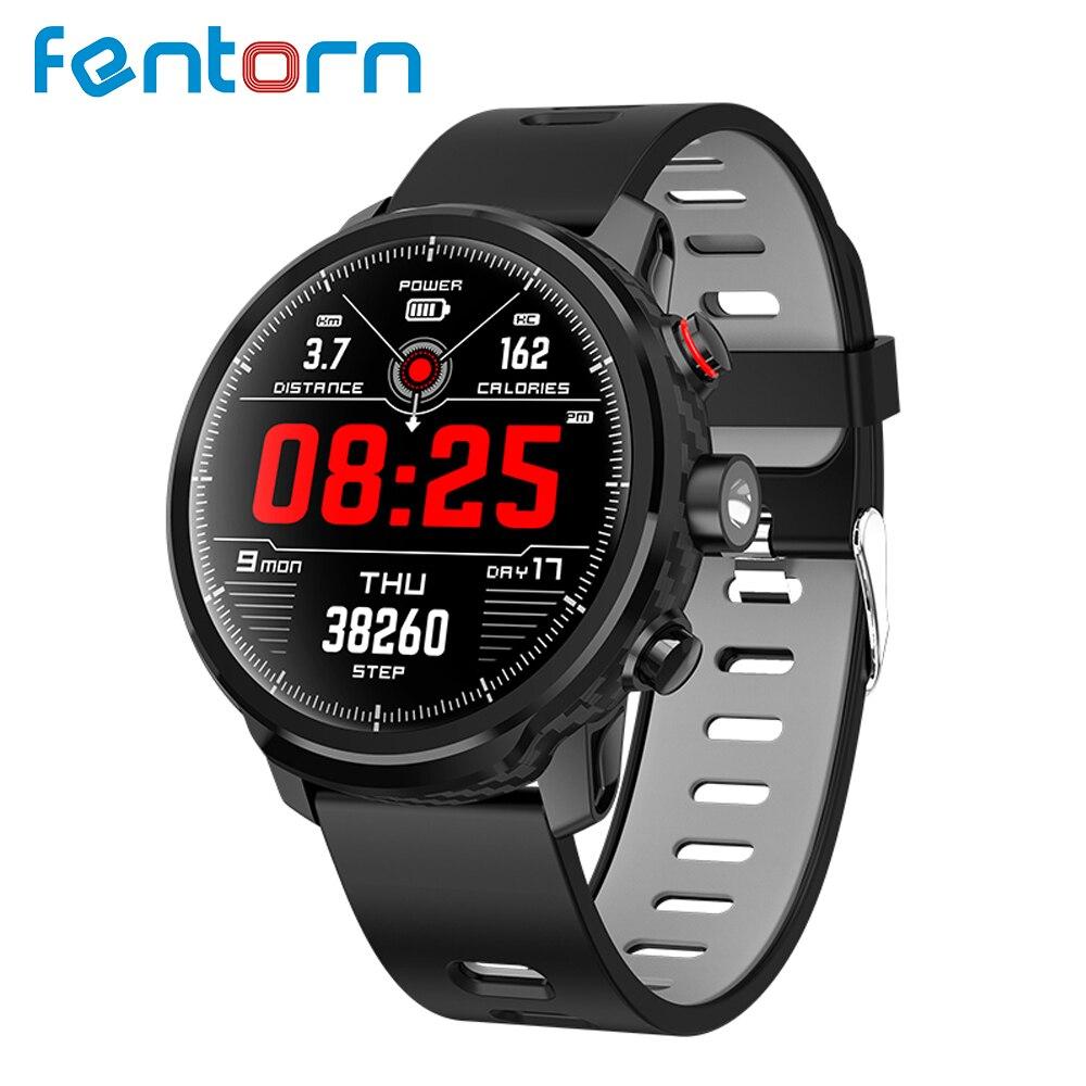Fentorn L5 Smart Uhr Männer IP68 Wasserdichte Standby 100 Tage Multi Sport Modus Herz Rate Überwachung Wetter Prognose Smartwath-in Smart Watches aus Verbraucherelektronik bei  Gruppe 1