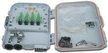 FTTH 8 แกนเส้นใยการสิ้นสุดกล่อง 8 พอร์ต 8 ช่อง Splitter กล่องในร่มกลางแจ้ง fiber Optical Splitter กล่อง FTB ABS