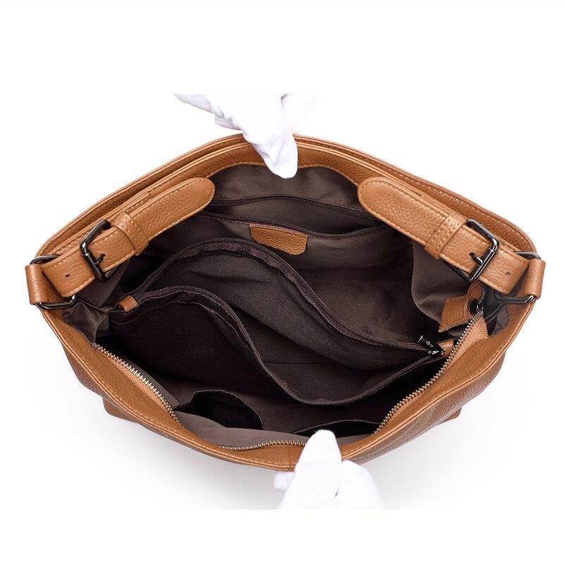 Véritable Bandoulière Cuir Automne Et Sac Supérieure Hobos Main À Black D'hiver Épaule Qualité E brown Sacs Femme De En IH29EYWD