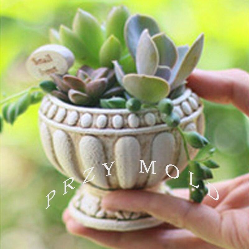 Silikagel silikonová forma květináč květinářství 3d váza forma evropský styl retro hrnce muti-masové hrnce formy pro domácí dekorace