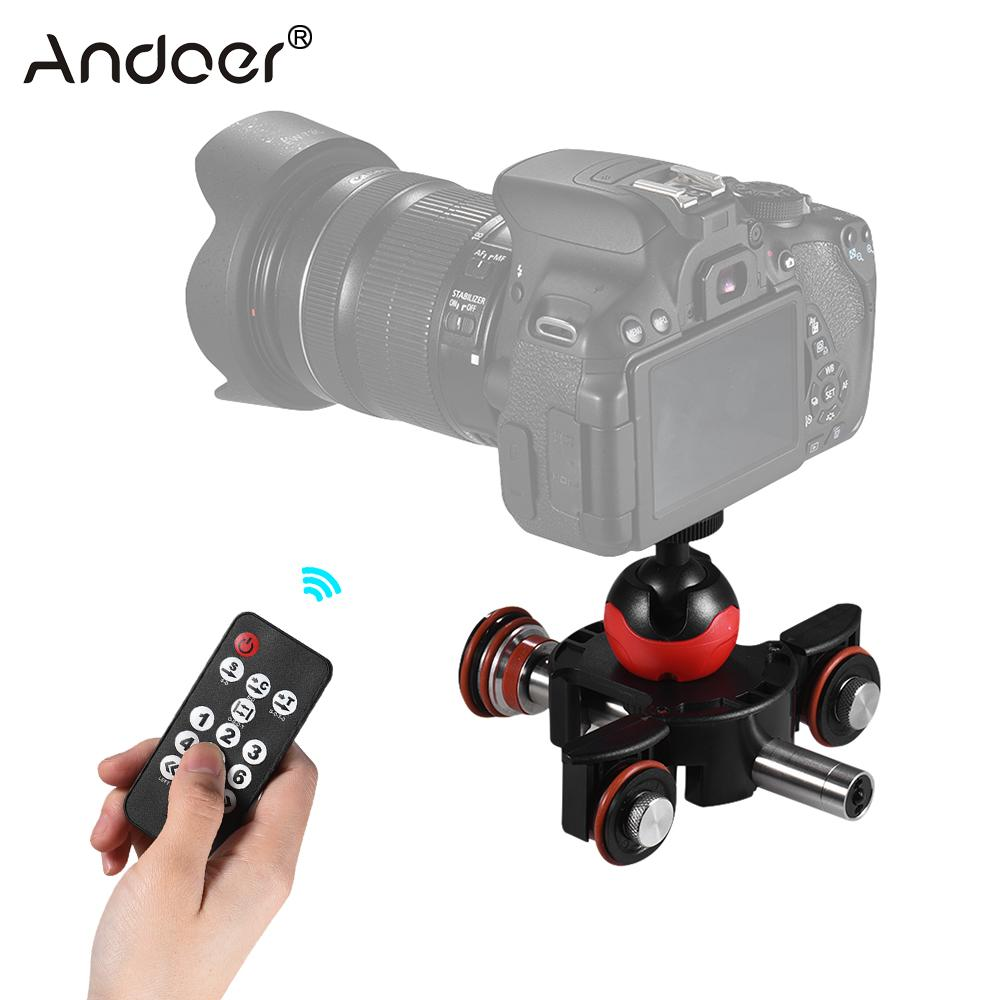 Andoer Mini Motorized Video Slider Track W/ Swivel Ball Head/ Phone Clip/Remote Control For DSLR Camera Camcorder For IPhone X 8