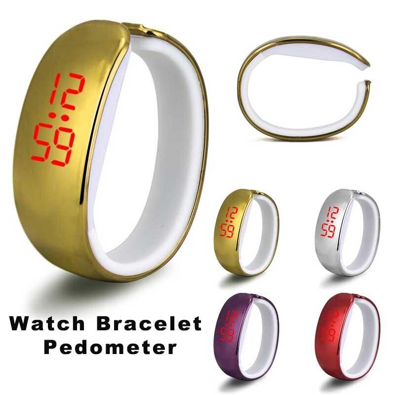 Men Women Ladies Sport LED Plating Waterproof Electronic Bracelet Digital Wrist Watch Masculino Reloje Fabulous Sport Watch A