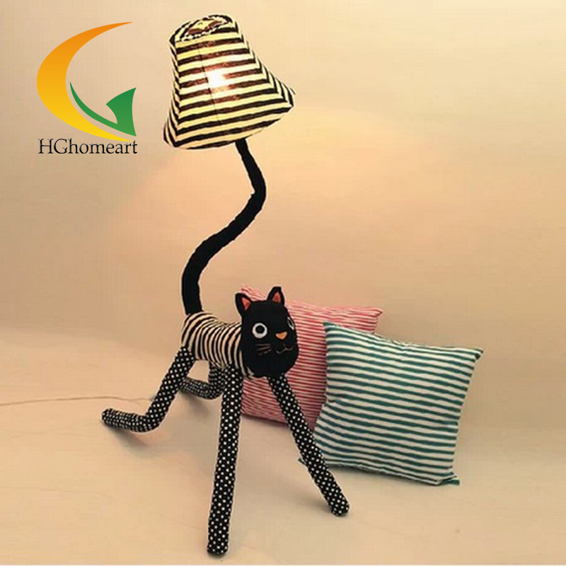 Star cat cartoon cloth creative floor lamp living room bedroom floor lamp for kids room night reading